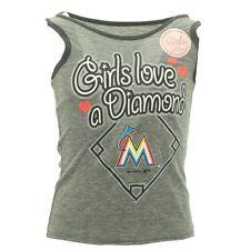 Girls Youth Size MLB Miami Marlins Tank Top Shiny Logo multiple sizes New