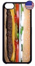 Hamburger Cheeseburger Food Funny New Slim Hard Case Cover For Apple iPod 4 5 6