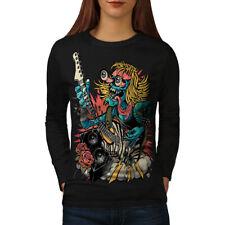 Rock Band Guitar Music Women Long Sleeve T-shirt NEW | Wellcoda