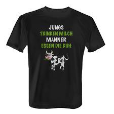 Männer essen die Kuh Herren T-Shirt Spruch Fleischesser Kochen Grillen Lustig