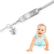 Kinderarmband,Babyarmband,Namensarmband PANZER MIT SCHUTZENGEL-Silber925-GRAVUR