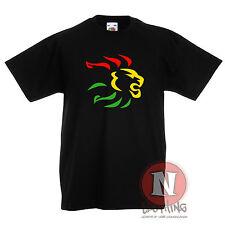 Rasta Lion head reggae dubstep skanking music Childrens Kids t-shirt 3-13 year