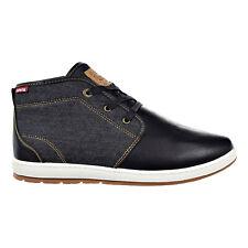 Levi's Ace Millstone Denim Mens Shoes Black 517939-01a