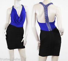 SKY brand Stefenia Blue Black 2T Gemstone  Sexy Mini Vegas Party Dress