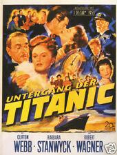 Titanic Barbara Stanwyck vintage movie poster
