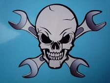 """Skull & Cruzado spanners Bicicleta pegatina 4 """"Jolly Roger Pirata mecánica llaves"""