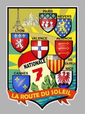 """NATIONALE 7 """" La route du soleil """" Sticker"""