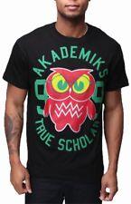 Akademiks para Hombre Hip Hop Tru erudito Star Skater Camiseta Tiempo Dinero G es Verde