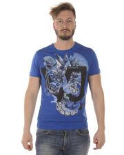 T-shirt Maglietta Versace Jeans T-Shirt Sweatshirt % SLIM Uomo Blu B3GRA75B-202