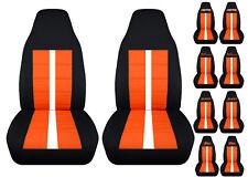 Chevy s10 bucket front car seat covers black-orange w/xtreme/ZR2/SS/BLAZER...