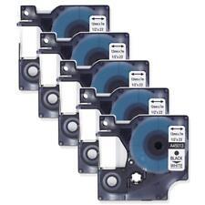 Compatible for DYMO D1 45013 S0720530 Black on White 12mm Label Tape Cassette