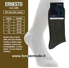 6 paia di Calze calzini uomo Prisco corte in misto lana a costina art Ernesto C
