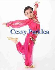 Girls Belly Dance Costume Bollywood Harem Pant  Long Sleeve Top Chiffon Sets