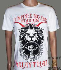 Tee Shirt T-shirt Muay Thai Boxe Thai Lumpini Stadium blanc Lumpinee