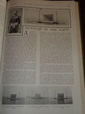 1901 ARTICLE GUNNERY IN NAVY CAPT PERCY SCOTT C.B
