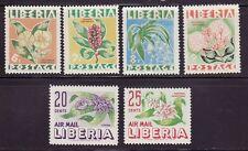 Liberia #350-53 & C91-92 MNH Complete Set Fauna Flowers