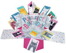Segunda naturaleza Purr-Fect cumpleaños y todas las ocasiones Tarjetas Recuerdo Pop Up