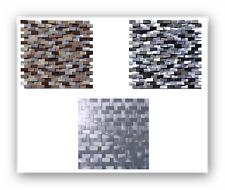Aluminium Steinmosaik Natursteinmosaik Mosaik Fliesen Fliesenspiegel 3D-Effekt