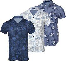 Nuevo Para Hombre Fashion Camisa Hawaiana Chelsea Manga Corta Casual 100% Algodón
