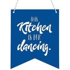 KLEINLAUT Deko-Wimpel - This Kitchen is for dancing.- Wähle Motiv, Farbe & Farbe