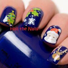 Las transferencias de agua de Navidad Nail Wraps Calcomanía uñas Art Santa Nieve Renos K067