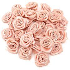 Light Peach Ribbon Roses Craft Scrapbooking Shabby Chic 25mm Craft Flower
