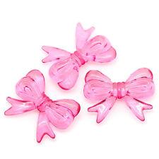 SPLENDIDA Grande Fiocco Nodo Perline 30mm x 23mm-in rosa fucsia veloce spedizione gratuita