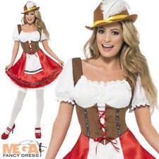 Bavarian Wench Ladies Oktoberfest German Beer Girl Waitress Fancy Dress Costume