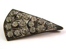 Art Deco Rhinestone and Metal Brooch