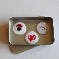 Cute Anniversary, Valentines Day, Birthday, Wedding I Love You Magnet Gift Set