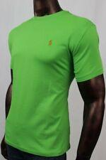 POLO Ralph Lauren Racing Green Crewneck T-Shirt Orange Pony ~NWT~