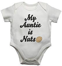 Il mio Auntie è DADI, personalizzata Baby Gilet BODYSUITS BABY cresce-Bianco