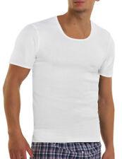 Herren Unterhemd mit Arm 4er Pack Feinripp Baumwolle bequem ohne Seitennähte