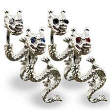 TJS Dragon Belly Ring Navel Bar Body Jewellery Earring Split 2-Part Tribal