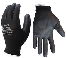 6 Pairs Better Grip Ultra-Thin Polyurethane Palm Coated Glove -BGSPU-BK
