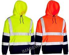 Hi Vis Visibility Safety Work Hoodie | Hooded Sweatshirt Top