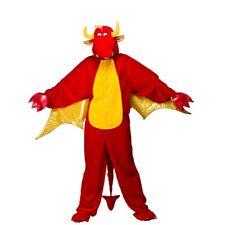 Costume Carnevale Uomo Da Drago Rosso Lusso Vestito Di Halloween Abito Adulto