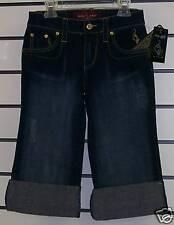 Baby Phat Denim Stretch SHORTS Size 1 Blue Jeans NWT