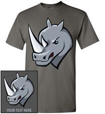 Rhino Head T-Shirt, Men Women Youth Kids Tank Long Personalize Custom Rhinoceros