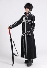 Sword Art Online Kirito Vestito Carnevale Cappotto Coat Cosplay Anime SWORDA20