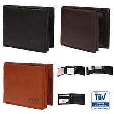 Geldbörse echt Leder Herren Damen Brieftasche Portemonnaie RFID TÜV Gegprüft Box