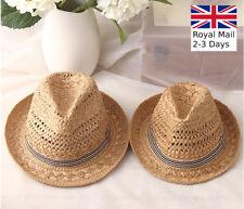 Dad Boy Kid Men Trilby Cowboy Summer Beach Sun Hat Jazz Fedora Hat Gangster Cap