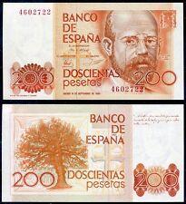200 pesetas año 1980 Clarín Sin serie S/C - SPAIN Pick 156  UNC