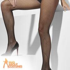 c75fb44bf4122 Ladies Fishnet Tights Black Plus Size Womens Fancy Dress Accessory New