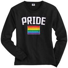 Threadrock Women's Gay Pride Rainbow Flag Long Sleeve T-shirt lesbian LGBT