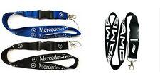 Mercedes AMG Brand Lanyard NEW Black White UK Seller Keyring ID Holder Strap