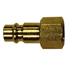 "(1/10) Milton 761 1/4"" FNPT ""V"" Style HI-FLOW Brass Plug. Fast, Free S&H"