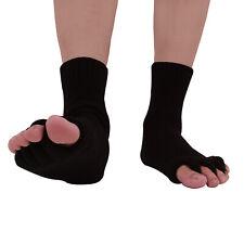 2x Zehenspreizer Socken Zehenstrecker Pediküre Hallux Valgus Toe Seperator Zehen