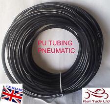 4,5,6,8mm Polyurethane Air PU pipe /Tube / Various Sizes X 1 metre length-BLACK