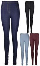 Para mujeres Estrecho equipado Damas Pantalón Largo Elástico Jeggings Denim Leggings Jeans